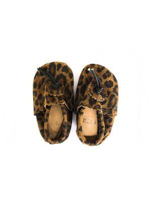 babyschoentje leopard bruin