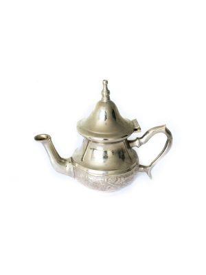 Marokkaanse theepot zilver handgemaakt 1 persoons