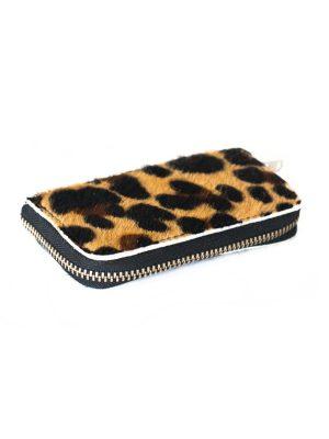 Vacht portemonnee leer luipaard